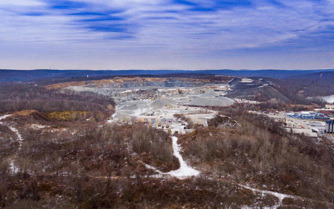 Drone Photograph of Mount Hope Quarry