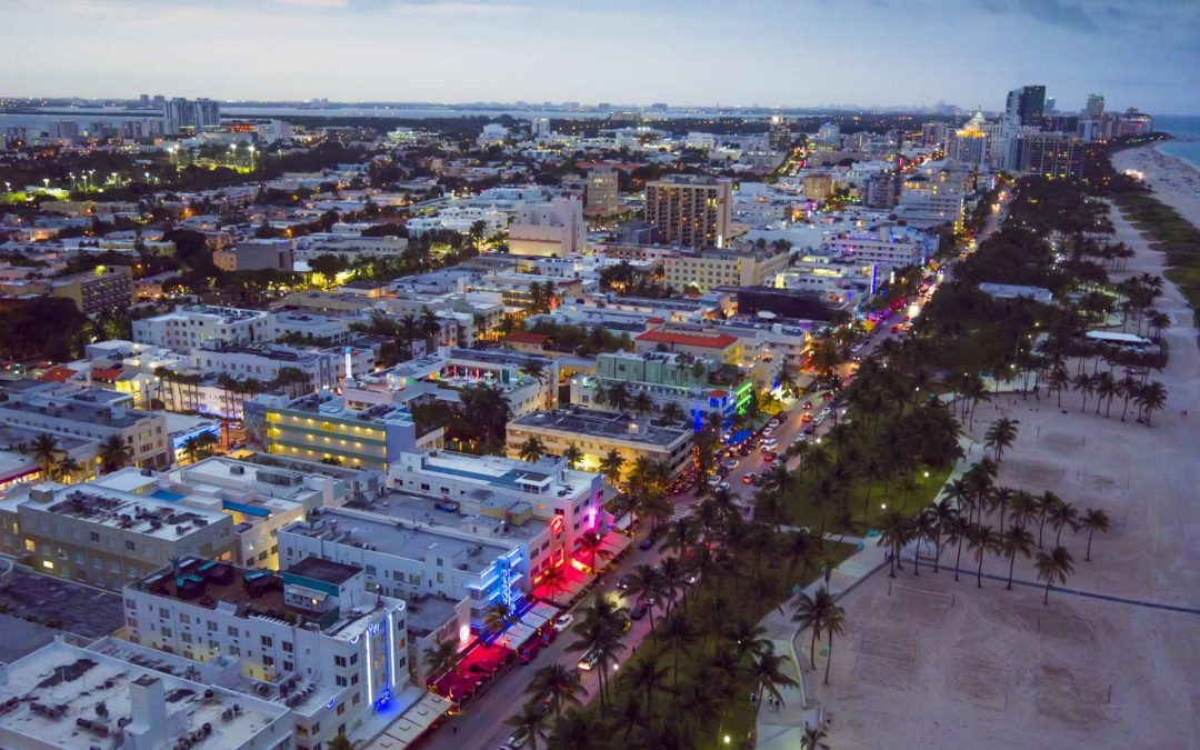 Drone Photography of South Beach Miami Florida