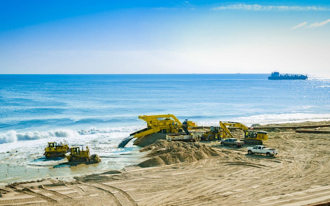 Aerial Drone Photography of Beach Restoration