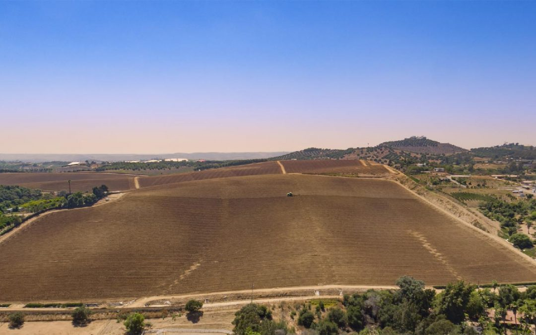 Aerial Drone photography of California farming