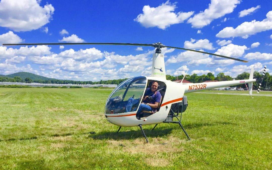 Photo of Joe Polillio in R-22 Helicopter