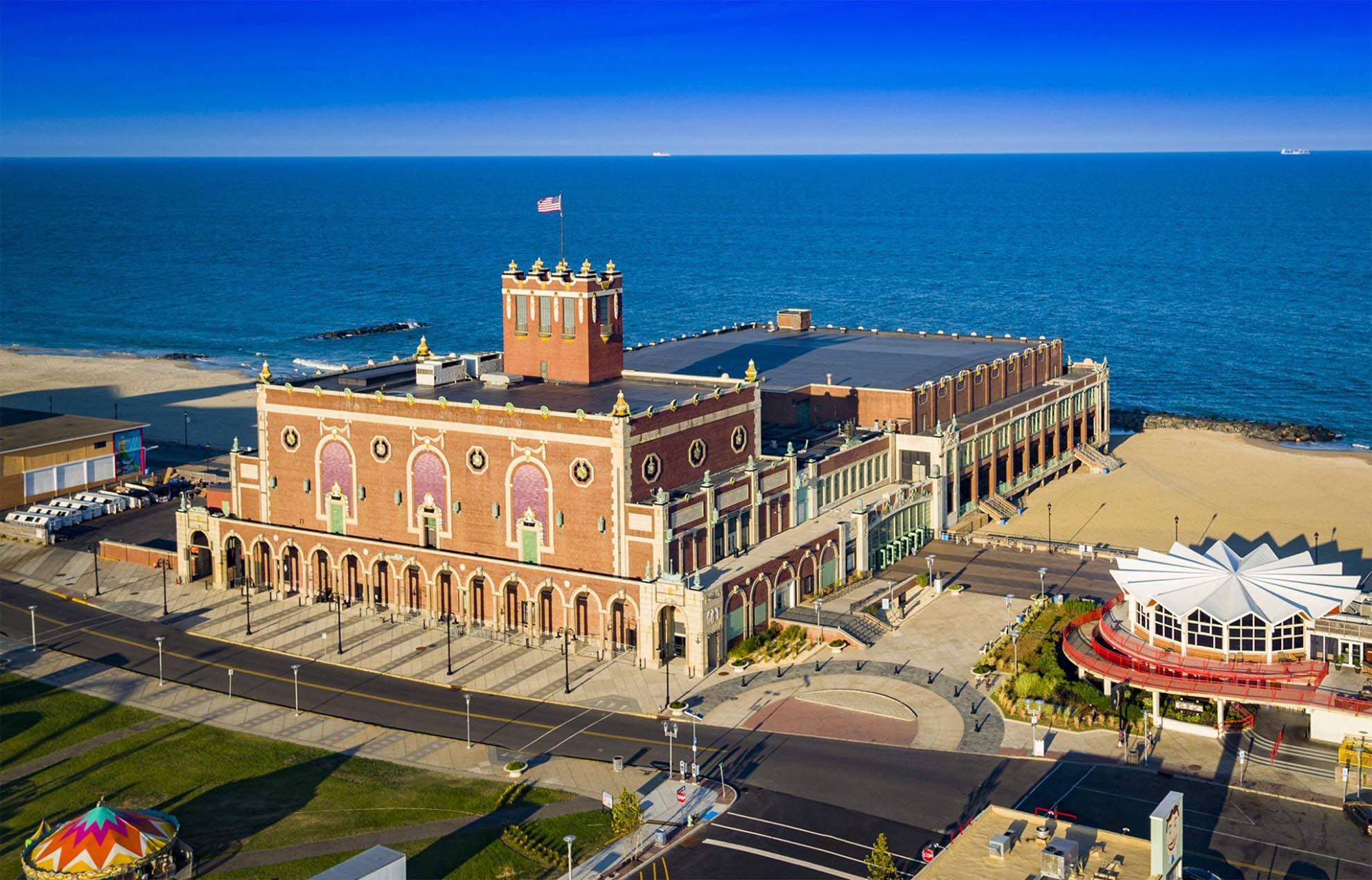 Drone Photograph of Asbury Park Convention Hall New Jersey