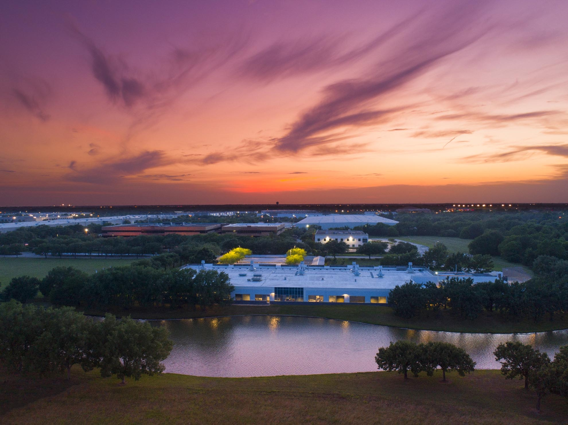 Drone photograph of Sabic facility Sugar Land Texas