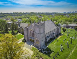 Drone photograph of St Peters Church Belleville New Jersey