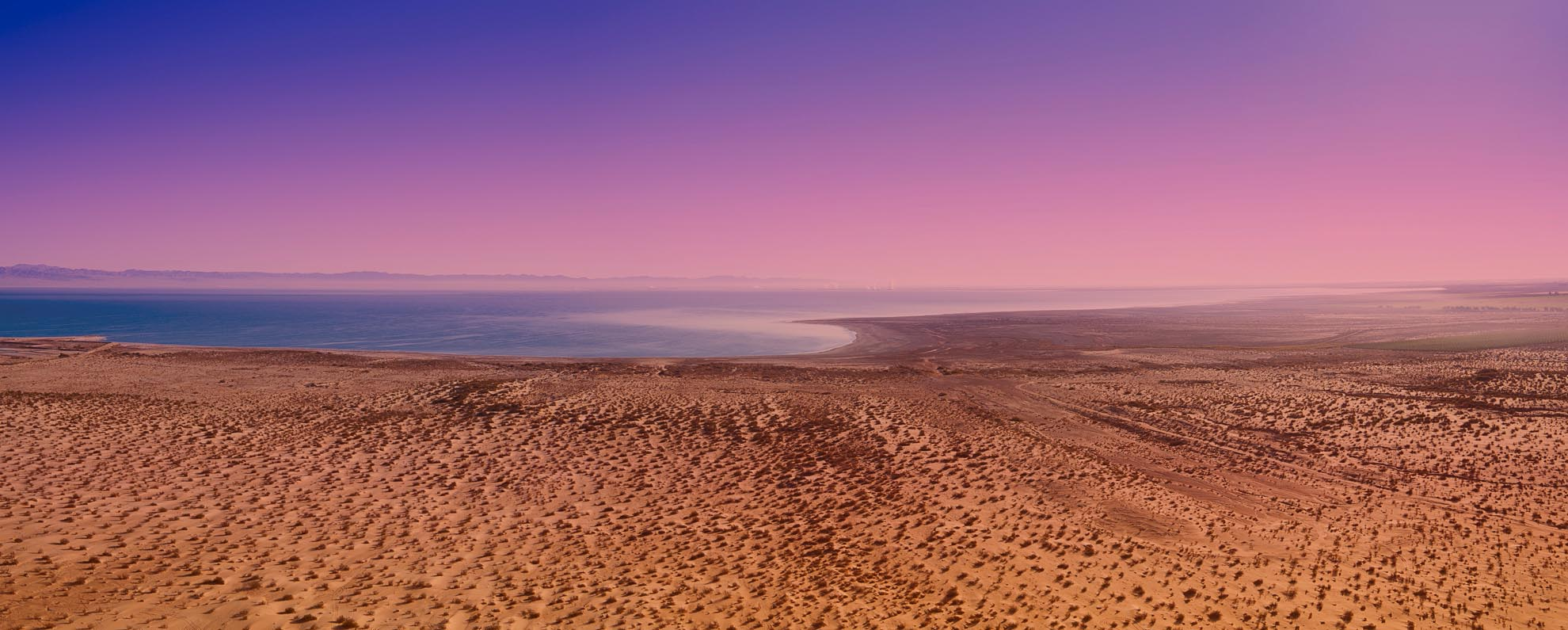 Drone Photograph of Salton Sea California