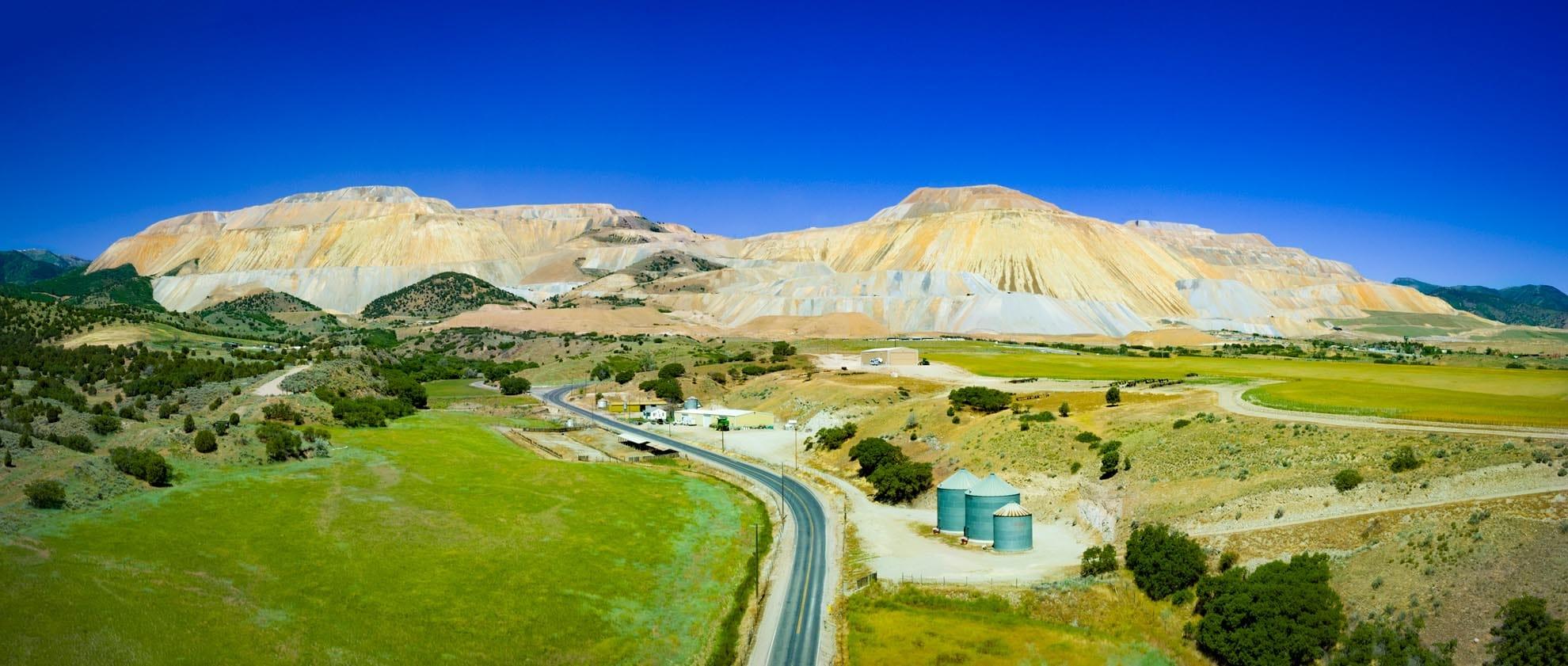 Drone Photograph of Bingham Canyon Mine Utah