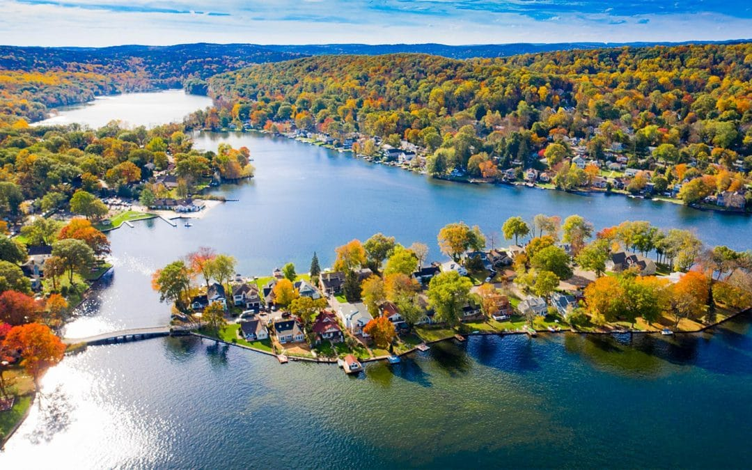 Drone photography of New Jersey Lakes