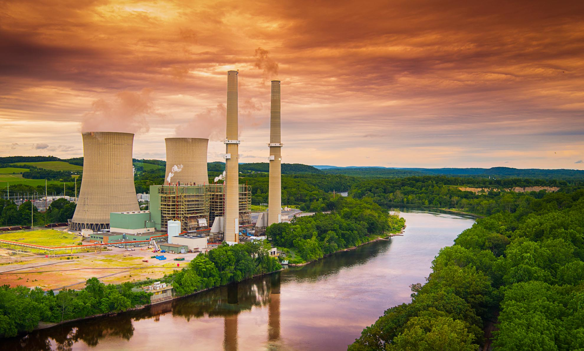 Drone Photograph of Martins Creek Power Plant PA