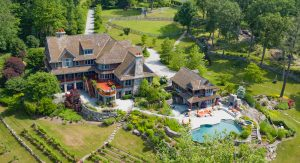 Drone Photography of Mansion in Greenwich CT