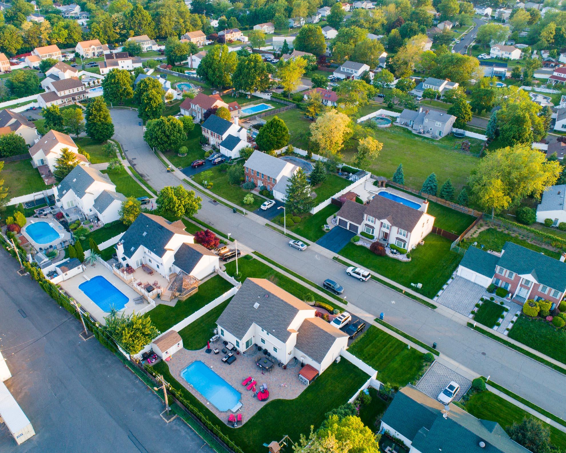Drone Photograph of Hazlet NJ Neighborhood