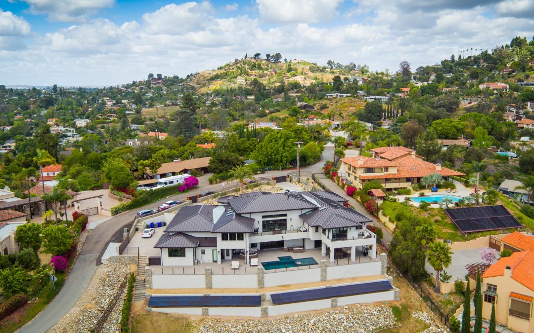Aerial Drone Photography of Smart Home