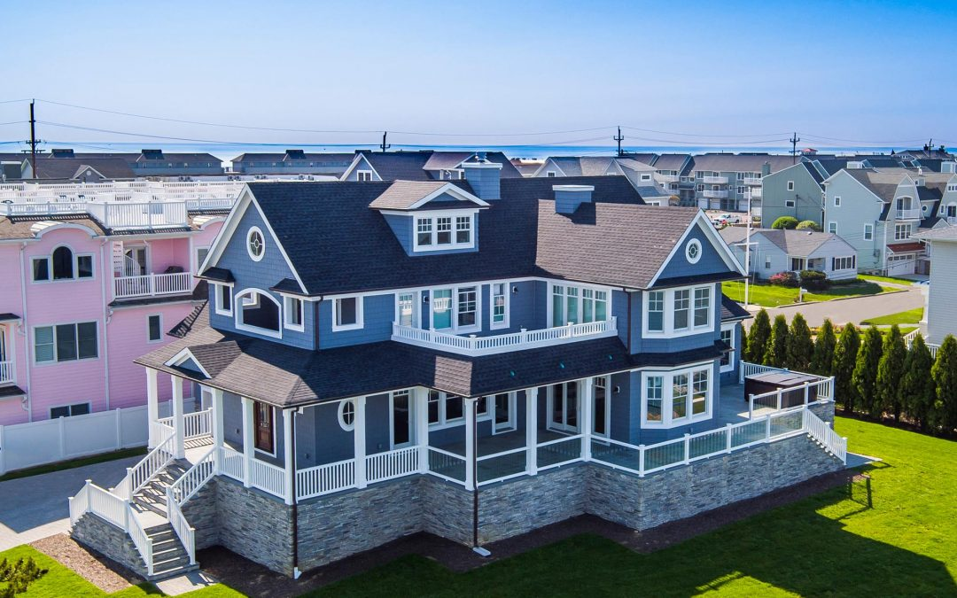 Drone Photography of Summer Home on the Jersey Shore
