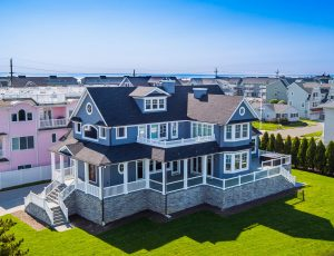 Drone Photograph of Beach Home on the New Jersey Shore