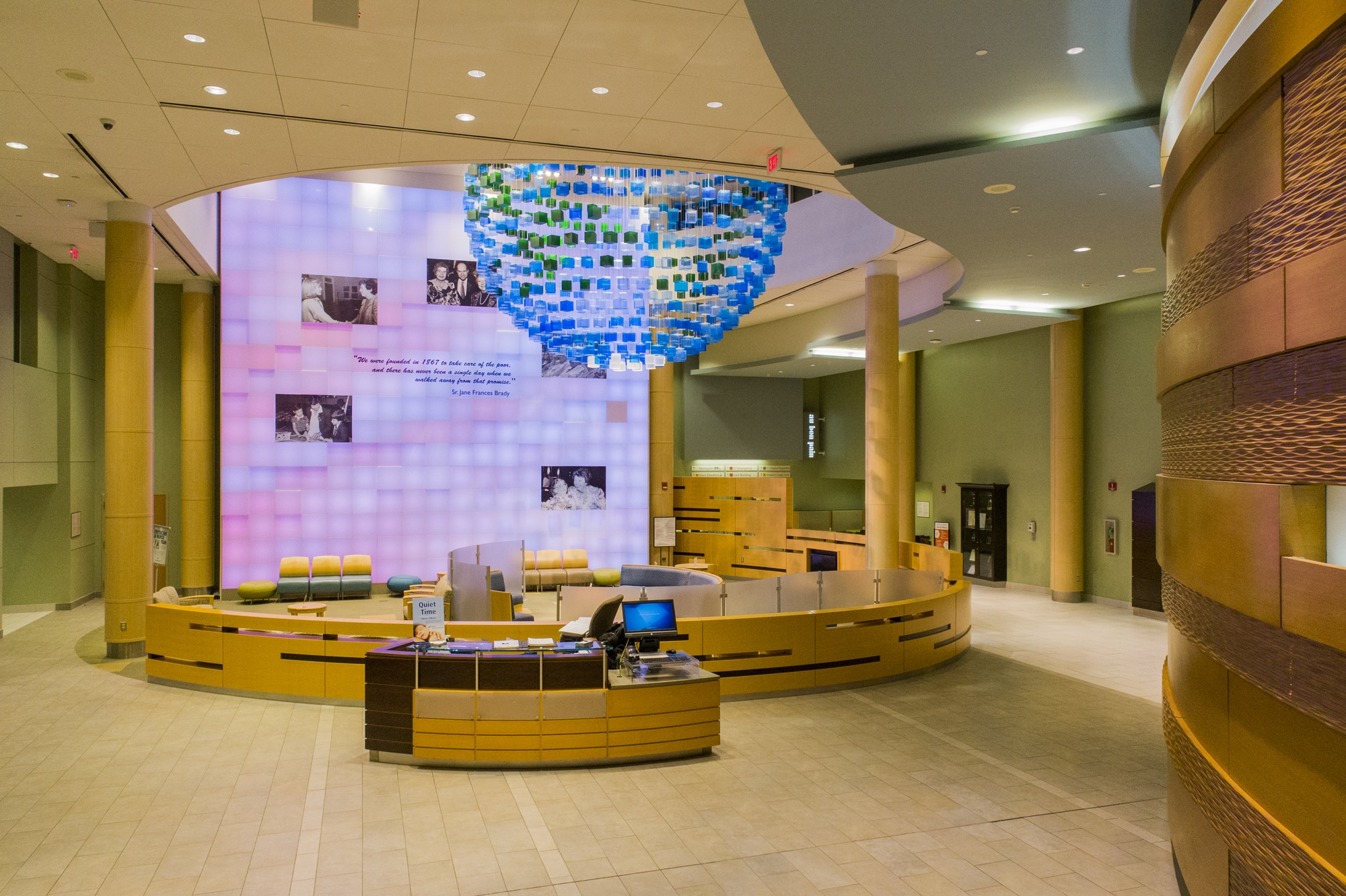 Drone Photograph taken inside the Lobby of St Josephs Medical Center