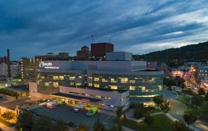 Drone Photograph taken of St Josephs Medical Center