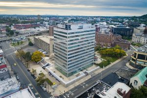 Drone Photograph taken of Commercial Building in Patterson New Jersey