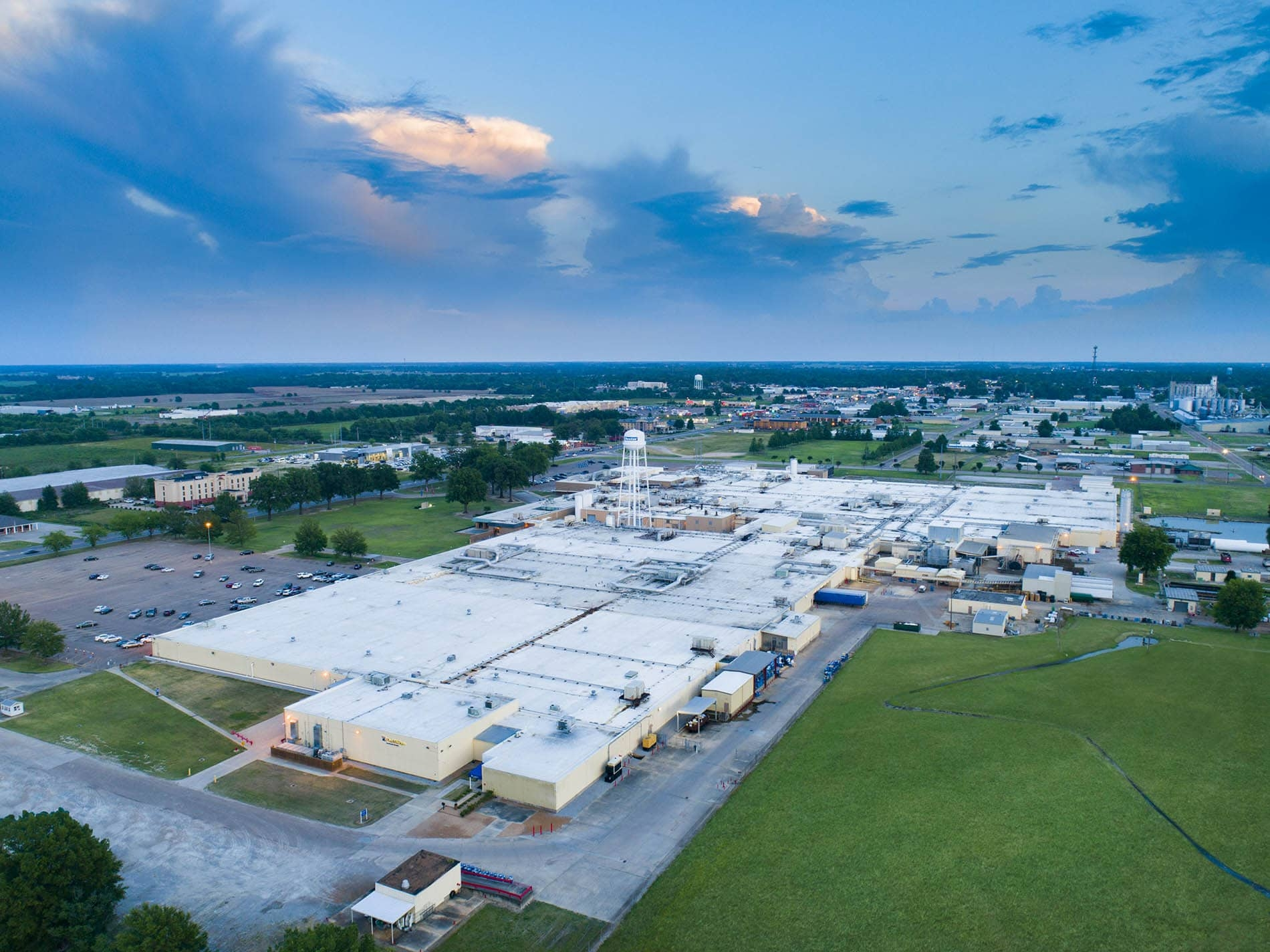 Drone Photograph taken of Commercial Factory in Cleveland Mississippi