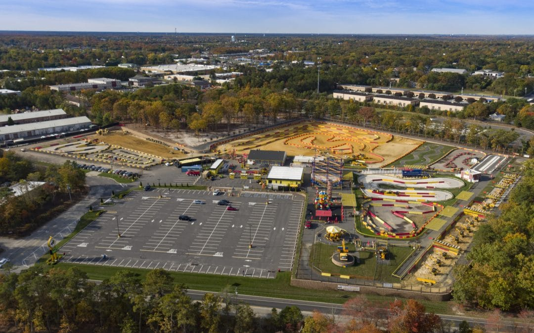 Amusement Park Drone Photography of Diggerland USA