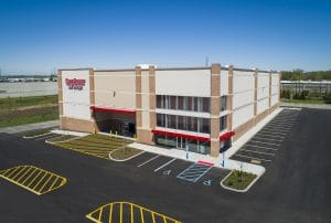 Drone Photograph taken of Commercial Building Cube Smart in North Bergen New Jersey
