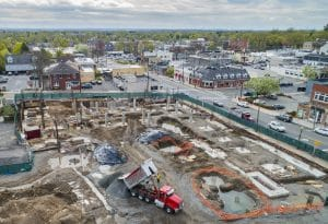 Drone Photograph of Construction Progress of Ridgewood NJ Condominium