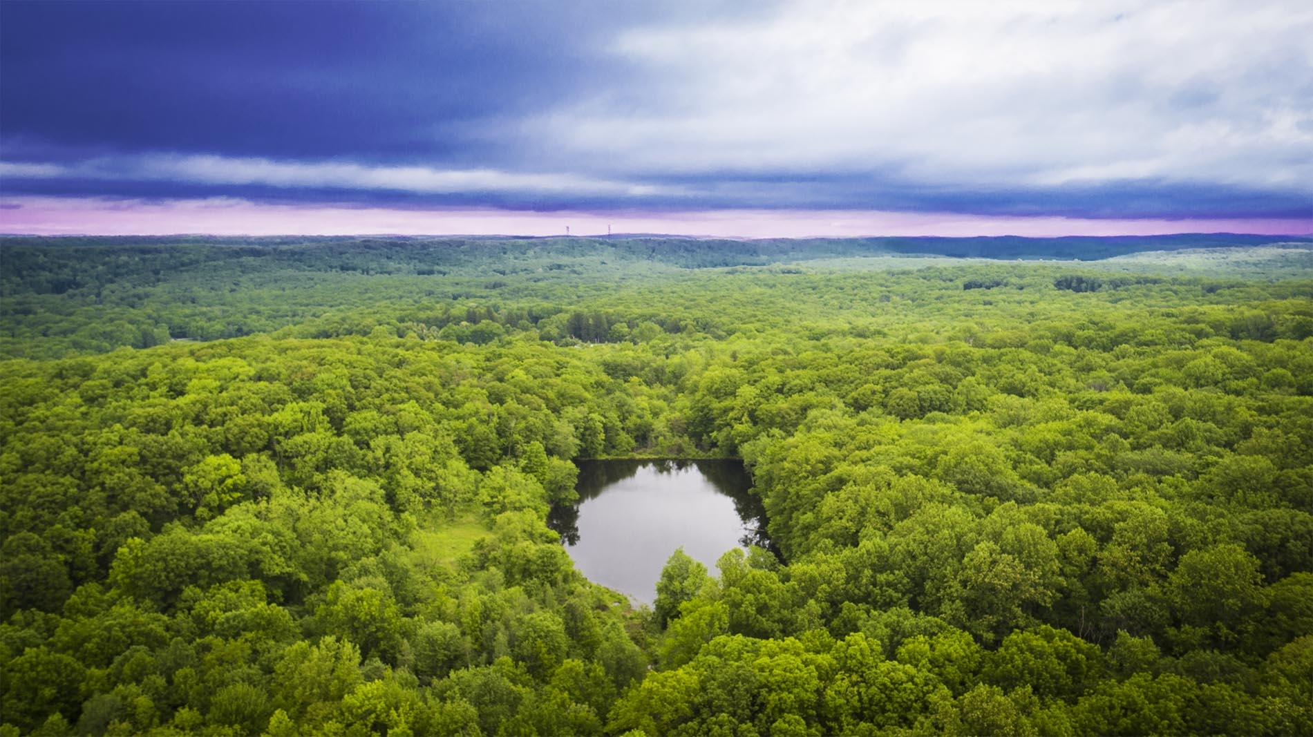 Drone Photograph of Egbert Lake Rockaway Township New Jersey