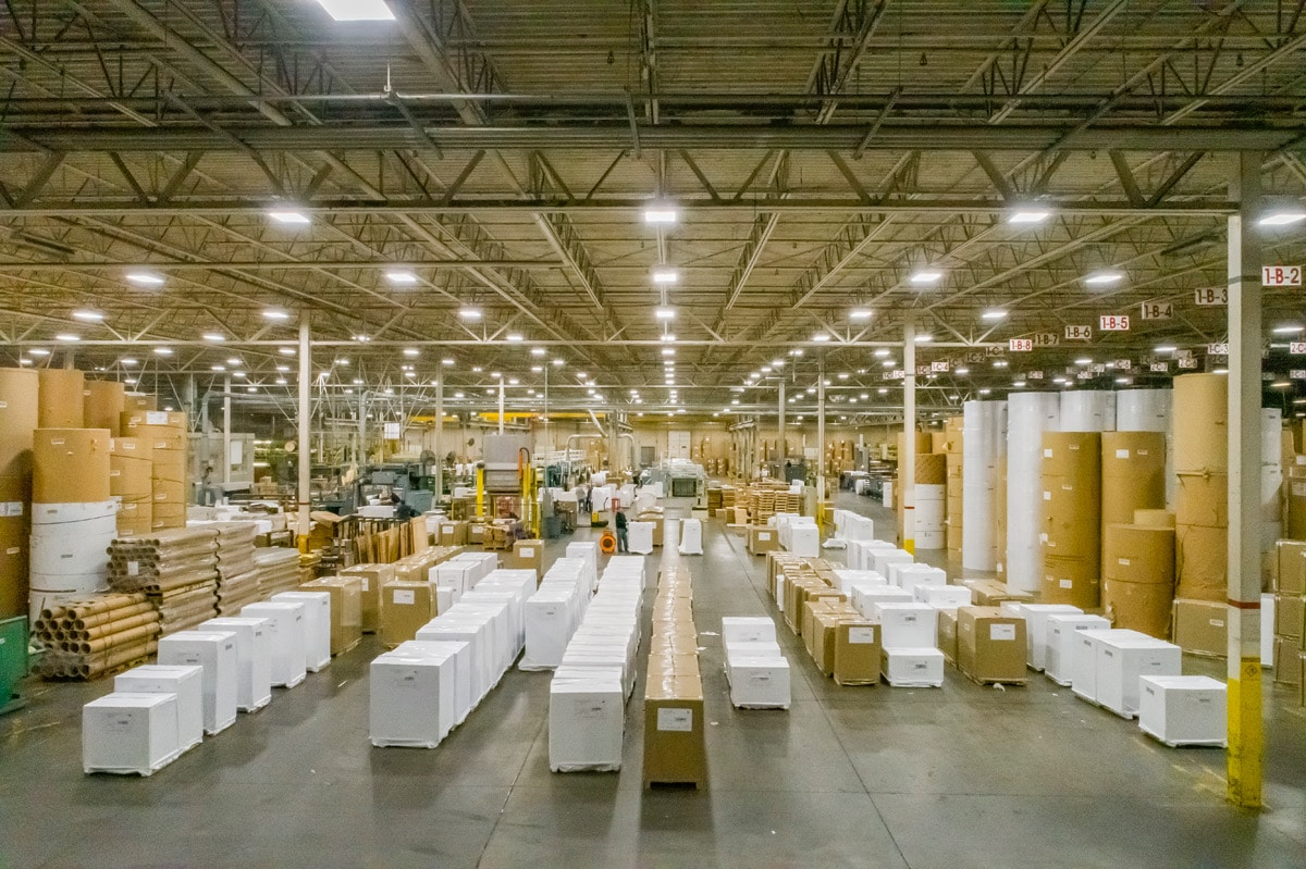 Drone Photography inside the Roosevelt Paper Company in Mt. Laurel, NJ