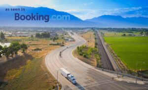 Drone Photograph of Moving Truck in Utah