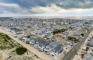 Drone Photograph of Seaside Park NJ Homes
