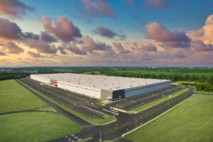 Drone Photograph of a TARGET Logistic Facility in Logan township New Jersey